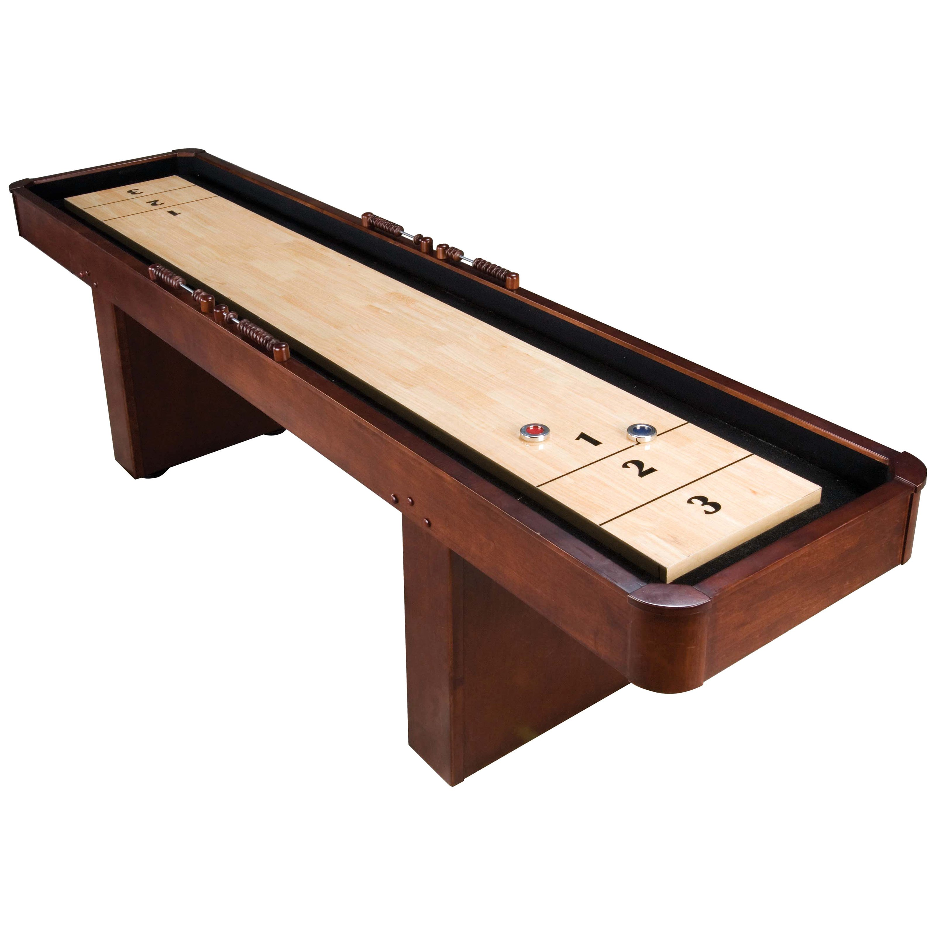 shuffleboard room hidden wine rack cherry finish cabinets for wood table game sale pin