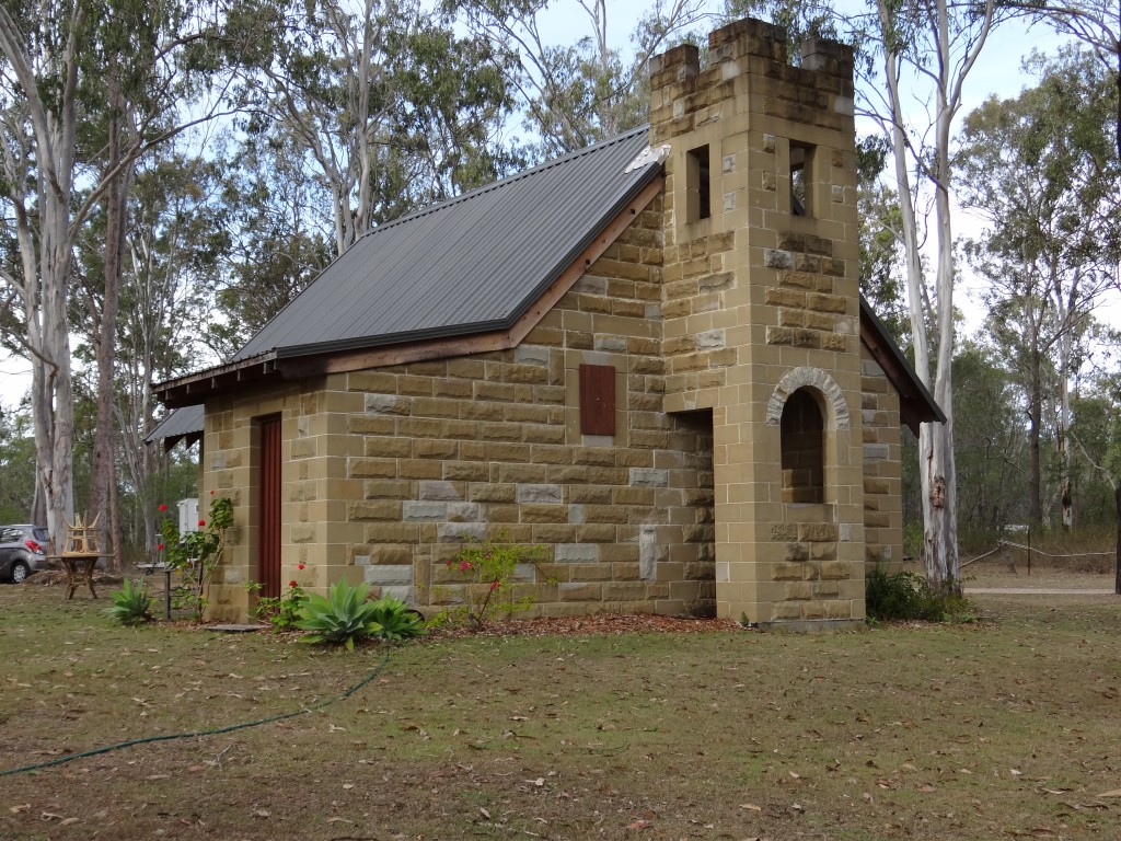 Tery has always been drawn to little old churches and this particular one was the first building, in a line of many, to form his own little village.