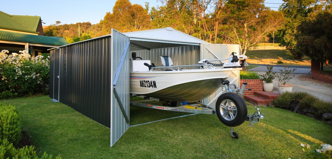 EasyShed boat storage.